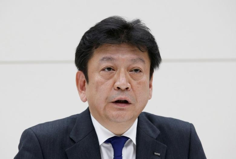 FILE PHOTO - Tokyo Electric Power Co Holdings new president Tomoaki Kobayakawa speaks at a news conference in Tokyo, Japan April 3, 2017. REUTERS/Kim Kyung-Hoon/File Photo