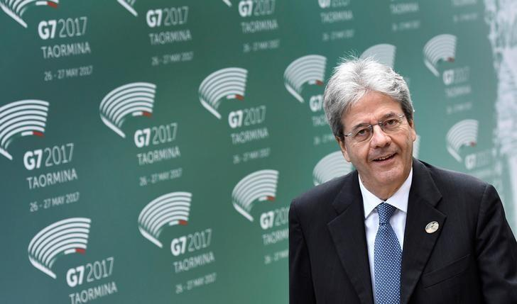 Italian Prime Minister Paolo Gentiloni attends the G7 summit in Taormina, Sicily Italy, May 26, 2017. REUTERS/Dylan Martinez