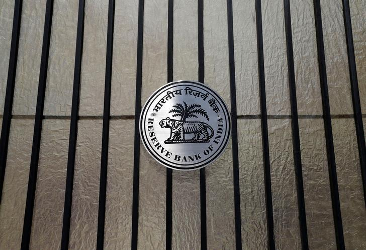 A Reserve Bank of India (RBI) logo is seen at the entrance gate of tts headquarters in Mumbai, India June 7, 2017. REUTERS/Shailesh Andrade/Files