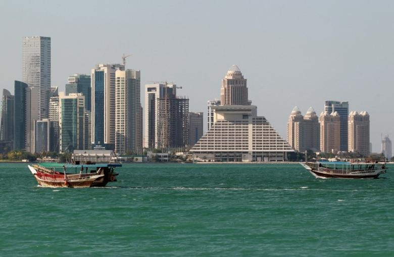 Buildings are seen on a coast line in Doha, Qatar June 5, 2017. REUTERS/Stringer/File Photo