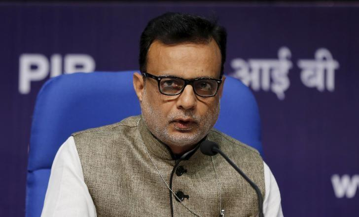 FILE PHOTO: India's Financial Services Secretary Hasmukh Adhia answers a question during a news conference in New Delhi, India August 14, 2015. REUTERS/Adnan Abidi/File photo