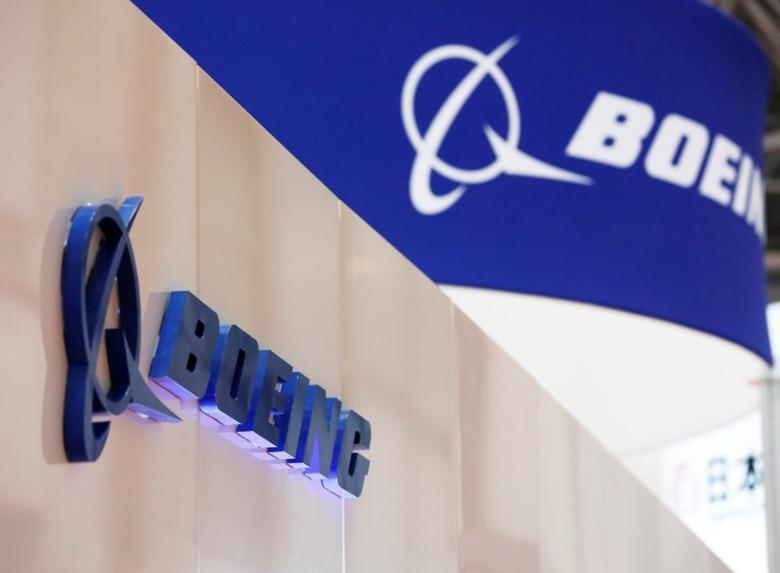 Boeing's logo is seen during Japan Aerospace 2016 air show in Tokyo, Japan, October 12, 2016.   REUTERS/Kim Kyung-Hoon