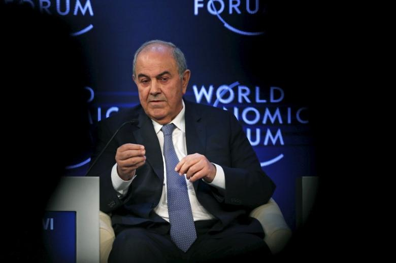 Iraq's Vice President Iyad Allawi speaks during the ''Addressing violent extremism, a shared responsibility'' session on the last day of the World Economic Forum (WEF) on the Middle East and North Africa at the King Hussein Convention Centre at the Dead Sea May 23, 2015. REUTERS/Muhammad Hamed