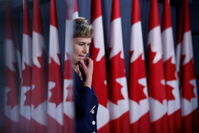 Communications Security Establishment (CSE) Chief Greta Bossenmaier takes part in a news conference in Ottawa, Ontario, Canada, June 16, 2017. REUTERS/Chris Wattie