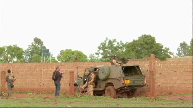 French soldiers are seen following an attack where gunmen stormed Le Campement Kangaba resort in Dougourakoro, to the east of the capital Bamako, Mali in this still frame taken from video June 18, 2017. REUTERS/ REUTERS TV