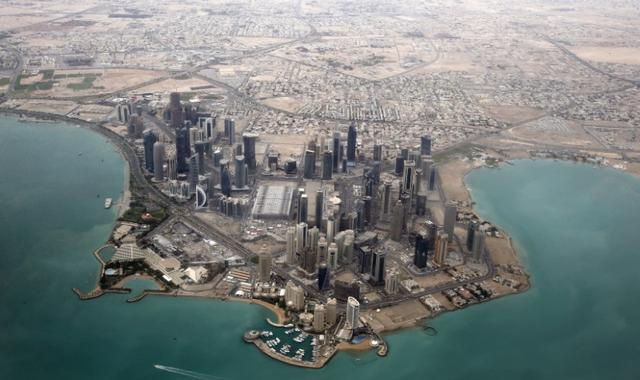 An aerial view shows Doha's diplomatic area March 21, 2013. REUTERS/Fadi Al-Assaad