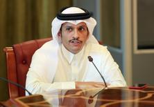 وزير الخارجية القطري الشيخ محمد بن عبد الرحمن آل ثاني في الدوحة يوم 8 يونيو حزيران 2017. تصوير: نسيم زيتون - رويترز