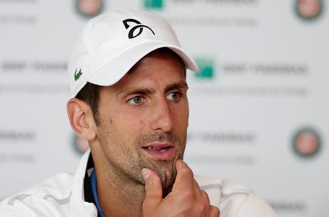 6月21日、男子テニスの元世界ランク1位でウィンブルドン選手権制覇3回の実績を持つノバク・ジョコビッチは、来週開幕するエイゴン国際にワイルドカードで出場することとなった。パリで7日撮影(2017年 ロイター/Benoit Tessier)