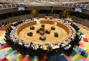 EU leaders attend a EU leaders summit in Brussels