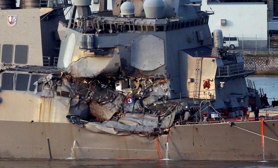 Exclusive: U.S. warship stayed on deadly collision course despite warning - container ship captain