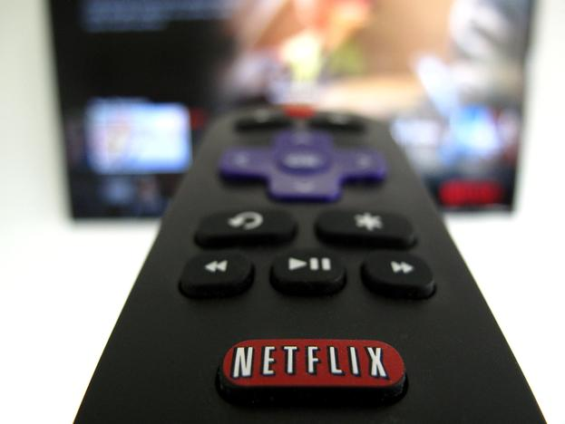 The Netflix logo is pictured on a television remote in this illustration photograph taken in Encinitas, California, U.S., on January 18, 2017. Mike Blake