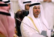 أنور قرقاش وزير الدولة الإماراتي للشؤون الخارجية في الرياض يوم 13 أكتوبر تشرين الأول 2016. تصوير: فيصل الناصر - رويترز