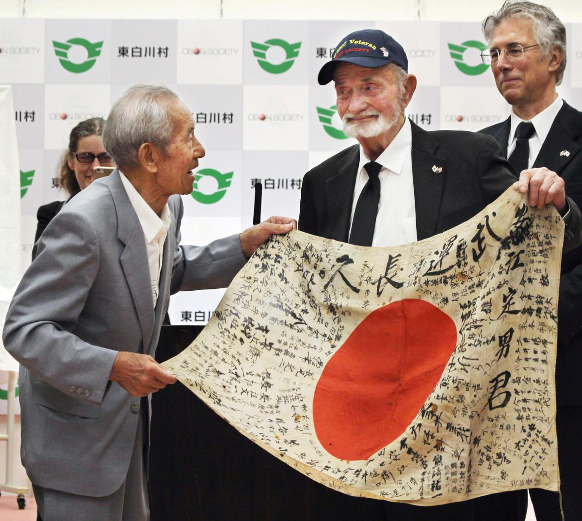 U.S. WW2 Veteran Returns Flag To Family Of Fallen Japanese