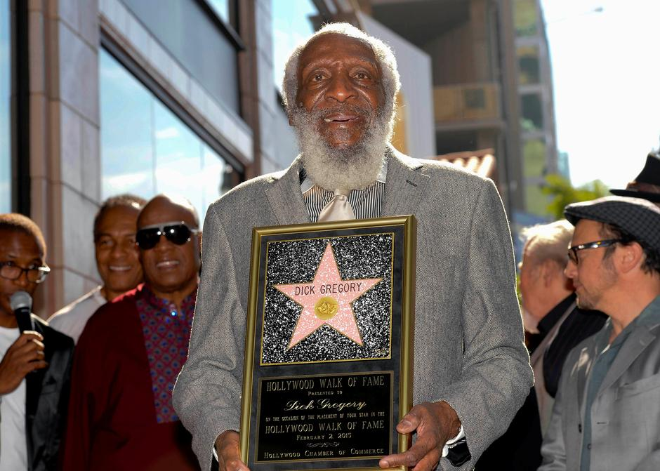 FILE PHOTO - Comedian Dick Gregory receives his star on Star on the Hollywood Walk of Fame in Los Angeles, California February 2, 2015.