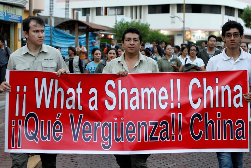 Ecuador jails Chinese fishermen found with 6,000 sharks