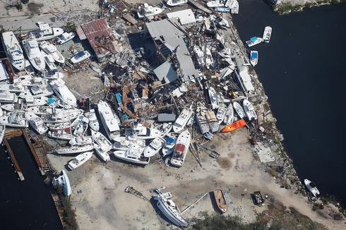 Florida Keys damage from above