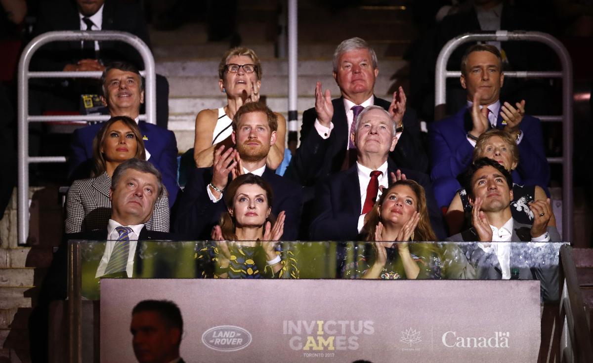Melania Trump meets Prince Harry, Trudeau, thanks U.S. Invictus team