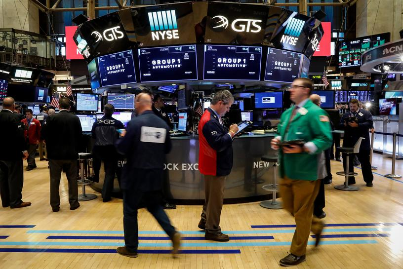 Global stocks ease after setting fresh peaks; oil gains