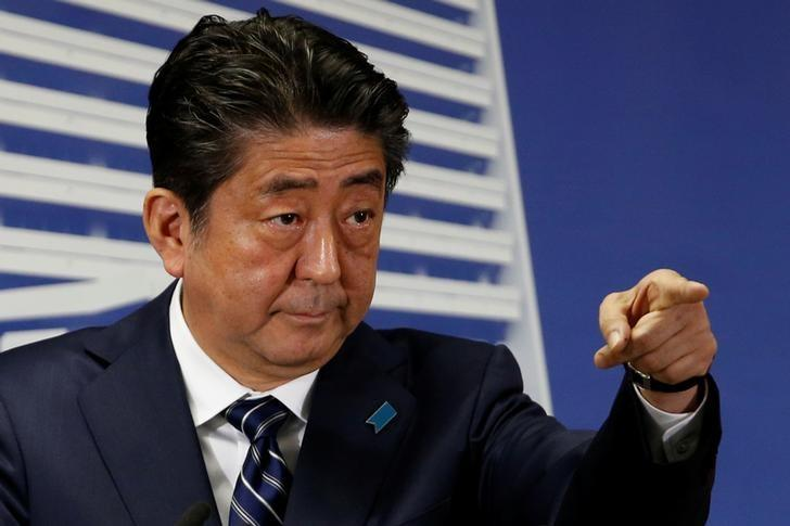 Image result for Japan's Abe vows to put education spending before budget balance