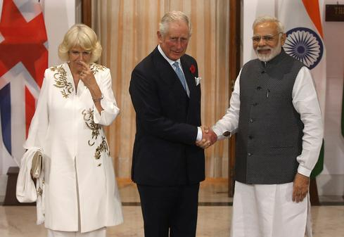 Britain's Prince Charles, wife in India