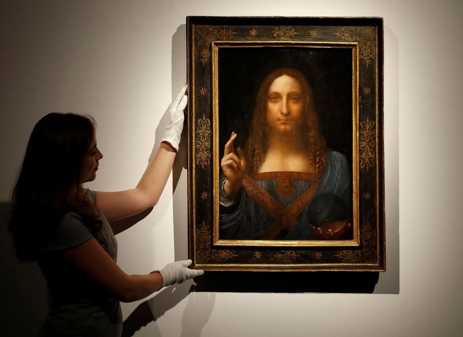 da vinci portrait of christ sells for record 450 3 million in new