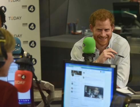 Prince Harry on the radio