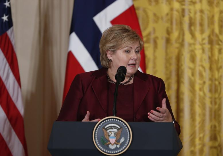 Norway's Liberals on verge of joining government - sourcesConservative Party - Donald Trump - East Room - Erna Solberg - Minority Government - Norway - NRK - Progress Party - Reuters - Washington DC