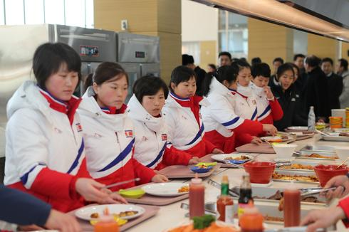 North Korean athletes arrive in South