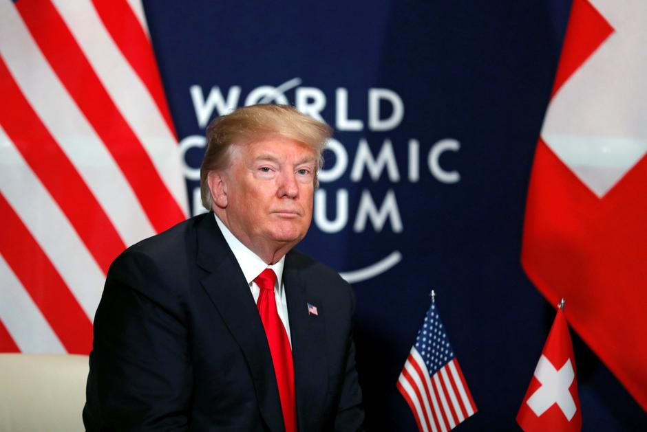 Image result for Trump in Davos