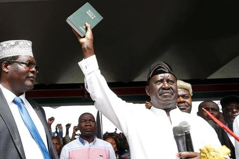 Kenya's opposition leader takes symbolic oath of office