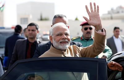 PM Modi in Palestine