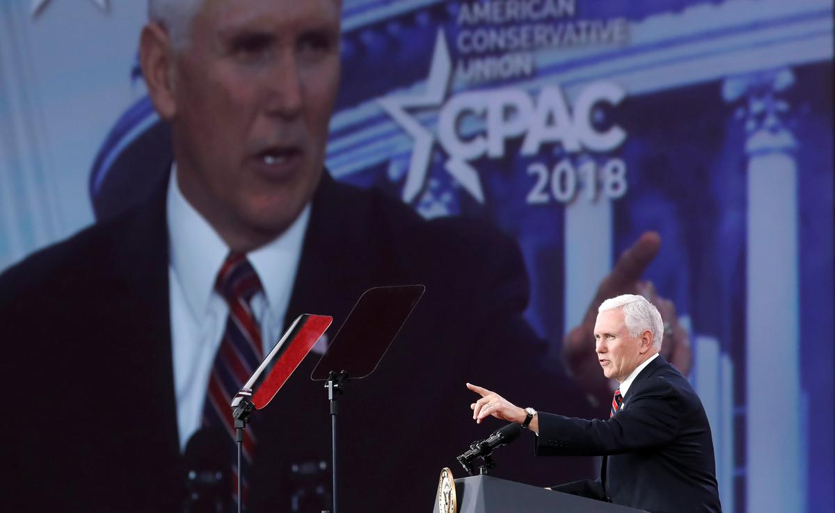 Pence rallies conservatives with call to fight hard at 2018 elections