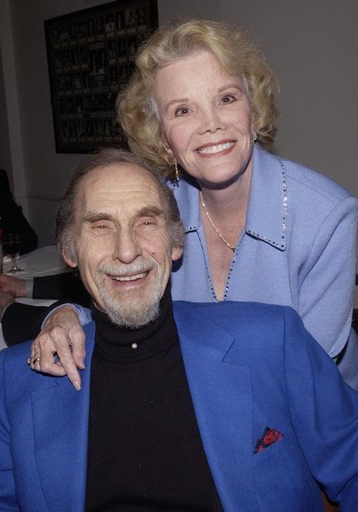 FILE PHOTO Legendary Comedian Sid Caesar Poses With Actress Nanette Fabray As He Celebrates His Belated 80th Birthday At The Friars Club In Beverly Hills