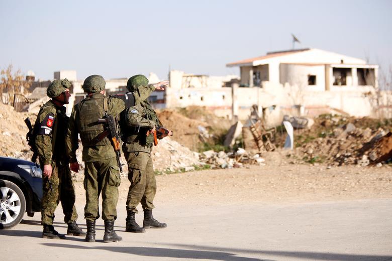 Военная полиция РФ в лагере Вафидин