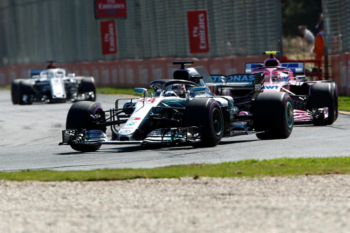 Hamilton tops timesheets in opening practice