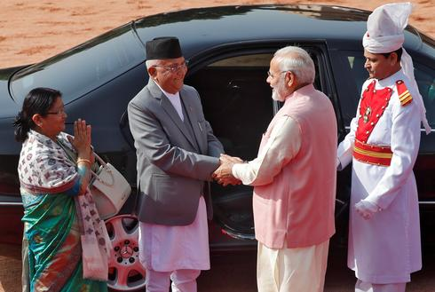 Nepal's PM K.P. Sharma Oli visits India