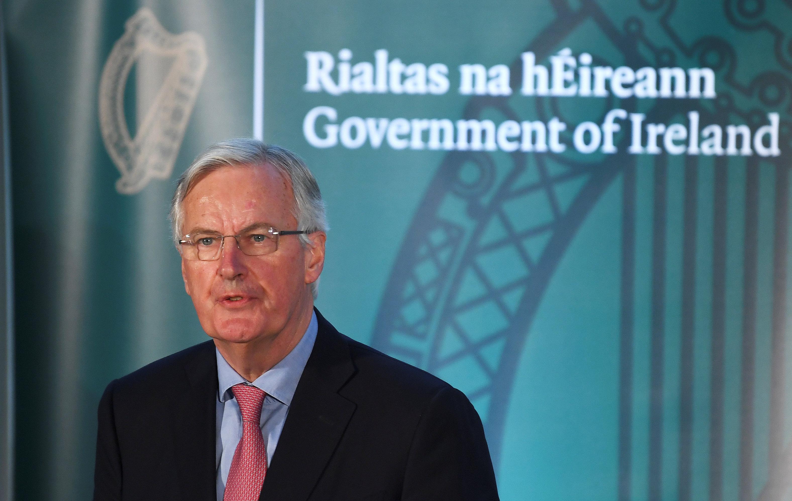 EU's Barnier says confident of deal to avoid hard Irish border