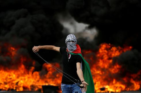 Palestinians protest on Nakba Day
