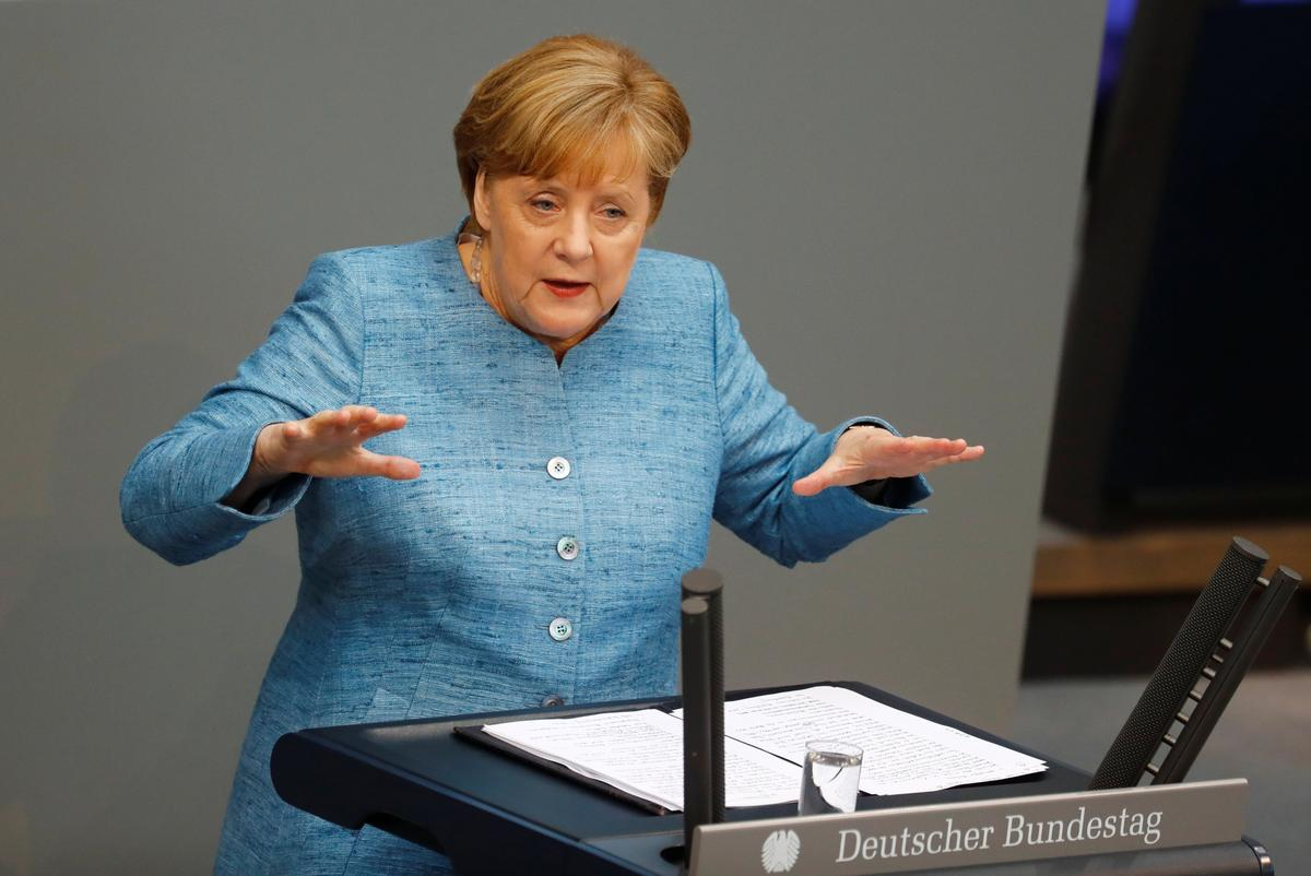 Best to talk to Iran and stay in nuclear deal, Merkel says