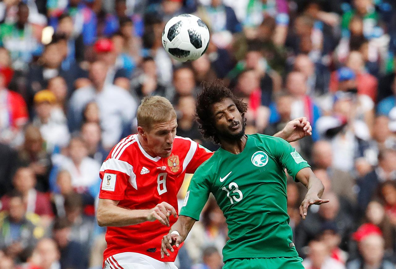 021545069 Soccer Football - World Cup - Group A - Russia vs Saudi Arabia - Luzhniki  Stadium