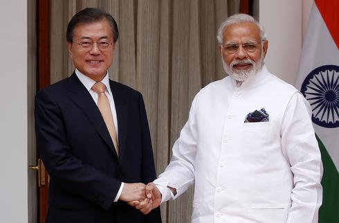 South Korean President Moon Jae-in visits India