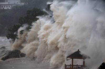 Typhoon Maria slams China and Taiwan