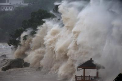 Typhoon Maria slams China and Taiwan