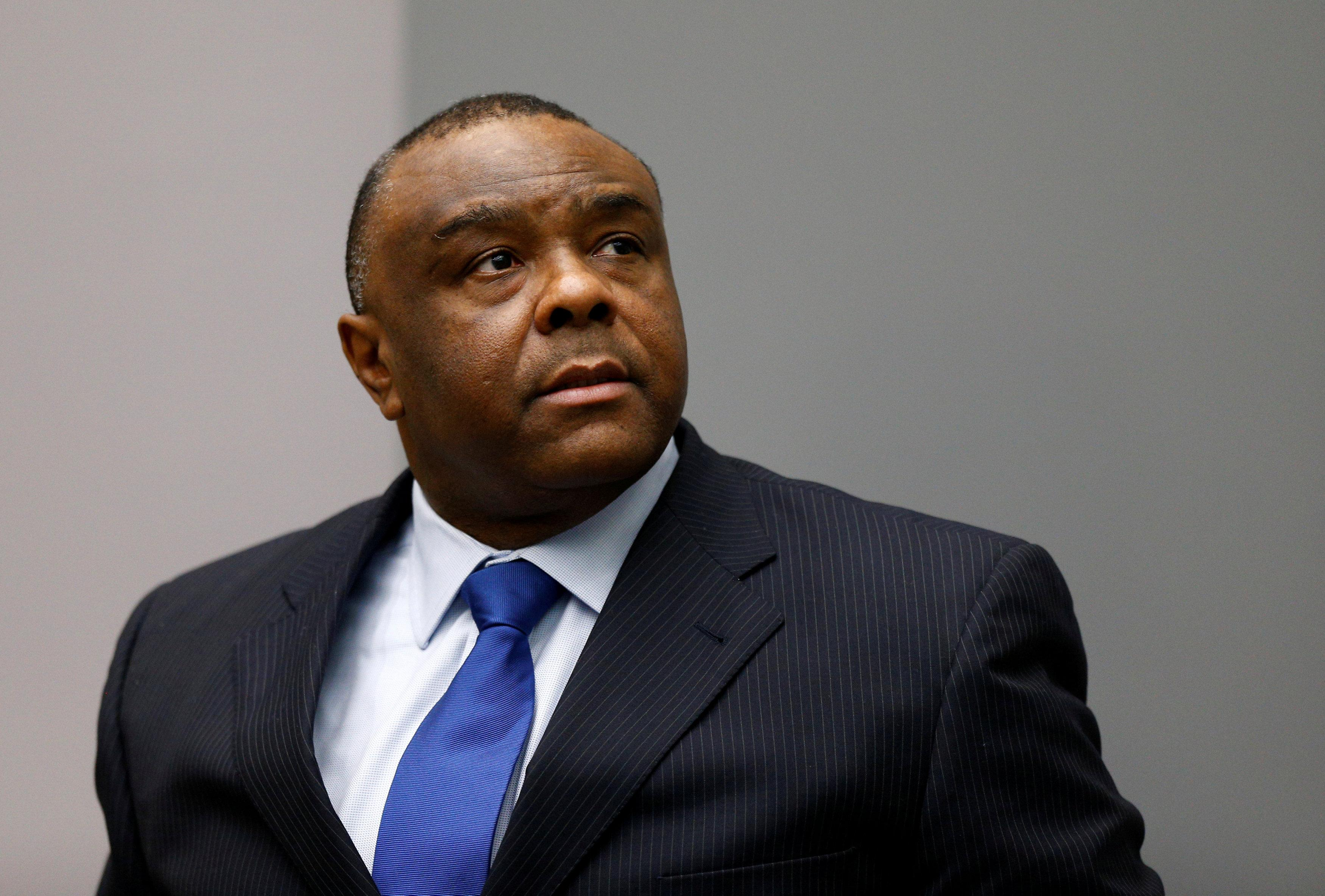 Jean-Pierre Bemba Gombo of the Democratic Republic of the Congo sits in the courtroom of the International Criminal Court (ICC) in The Hague, June 21, 2016. Michael Kooren