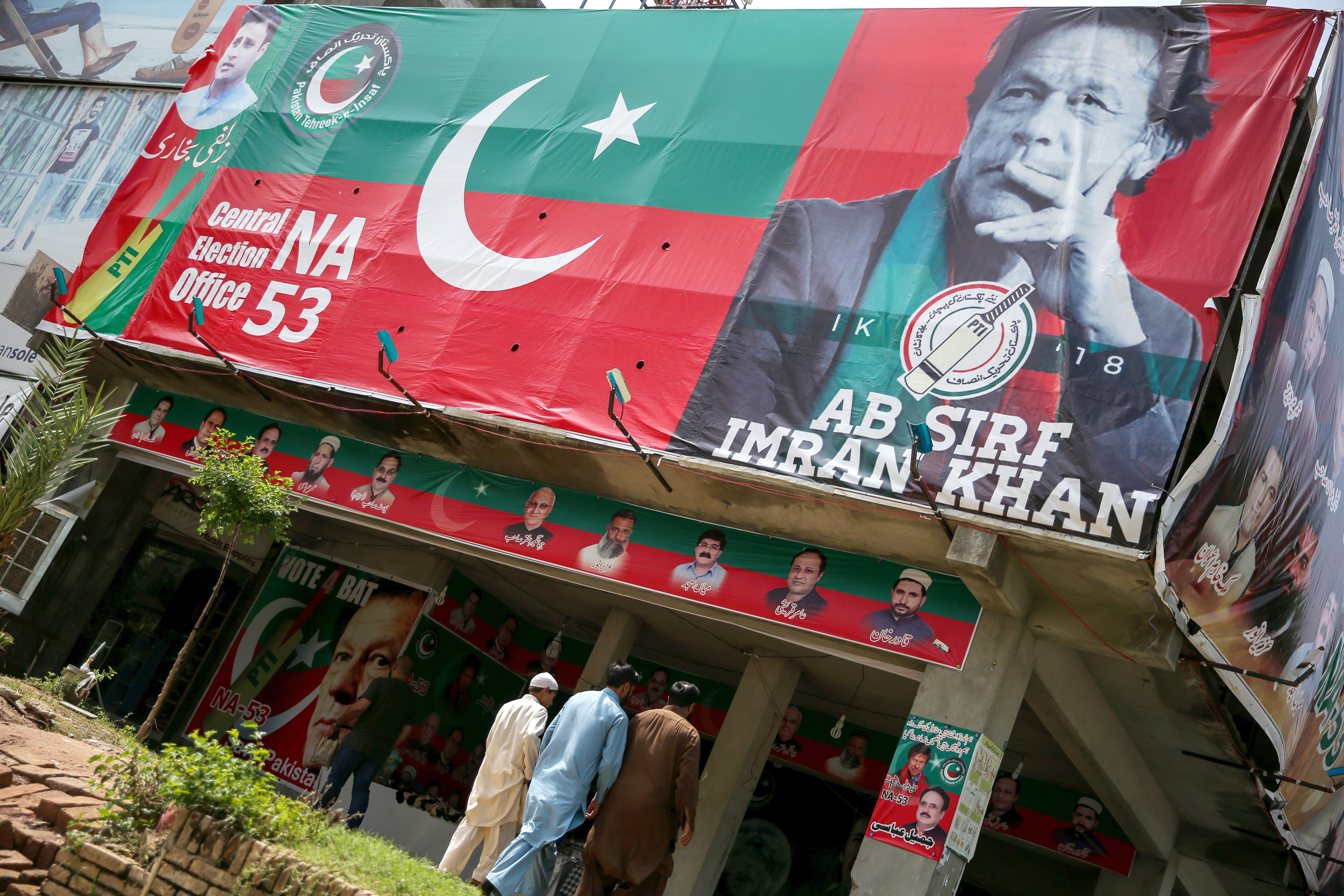 Main parties concede Pakistan election to Imran Khan; protests...
