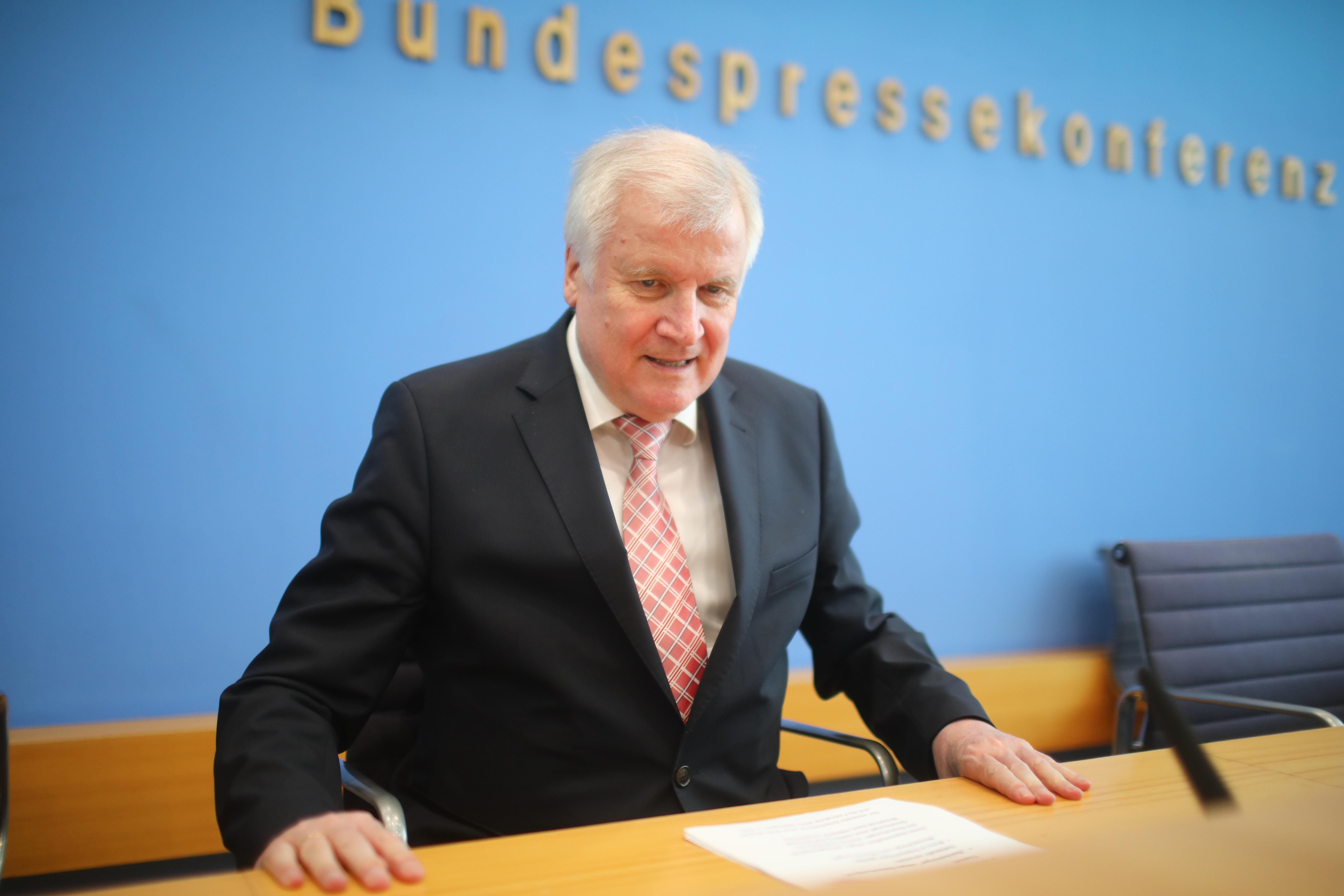 German Interior Minister Horst Seehofer attends a news conference in Berlin, Germany July 24, 2018. Hannibal Hanschke