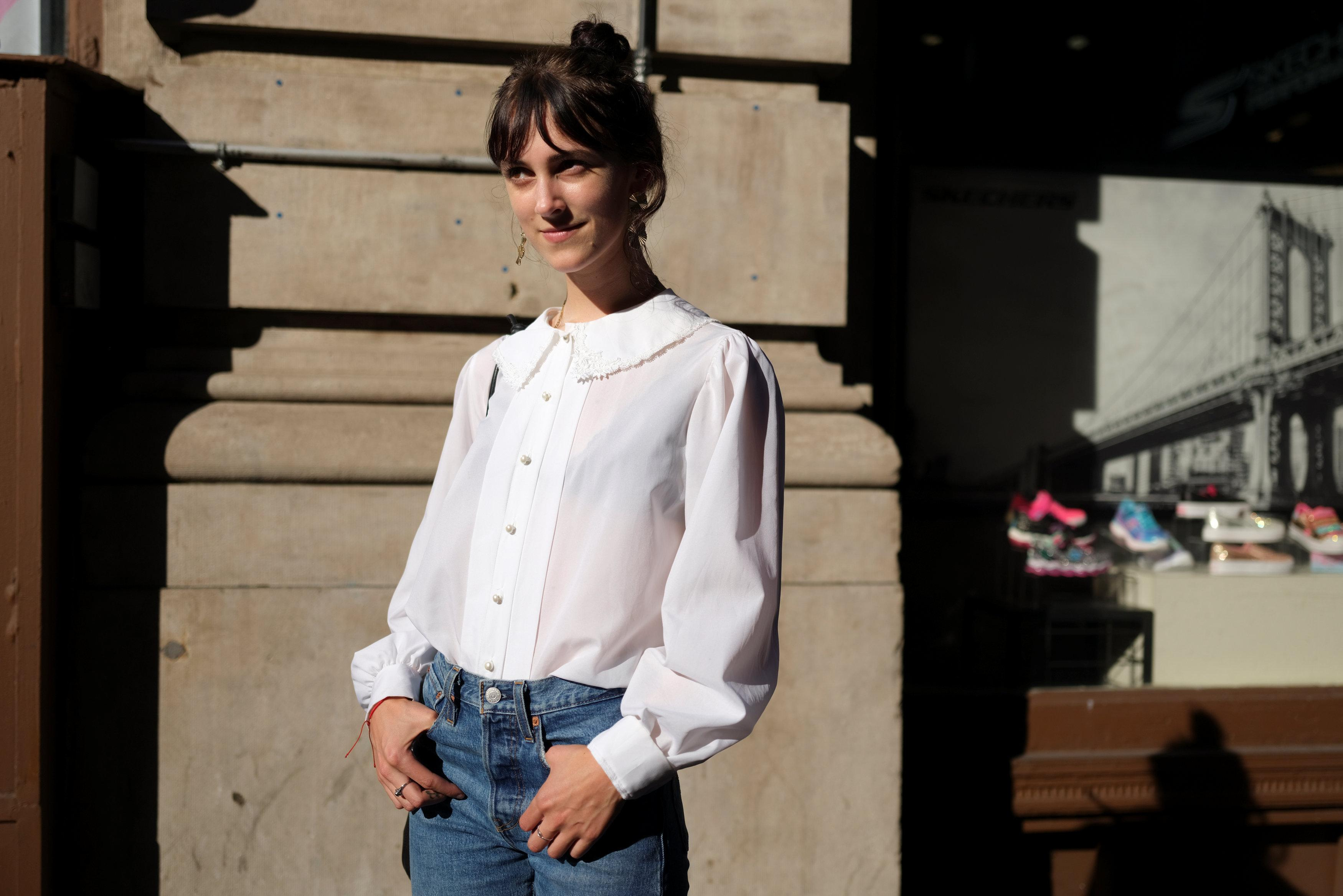 Kat McClanahan, 23, a Merchandising Manager at Aritzia, poses for a portrait in the Manhattan borough of New York, U.S., September 3, 2018.  Caitlin Ochs