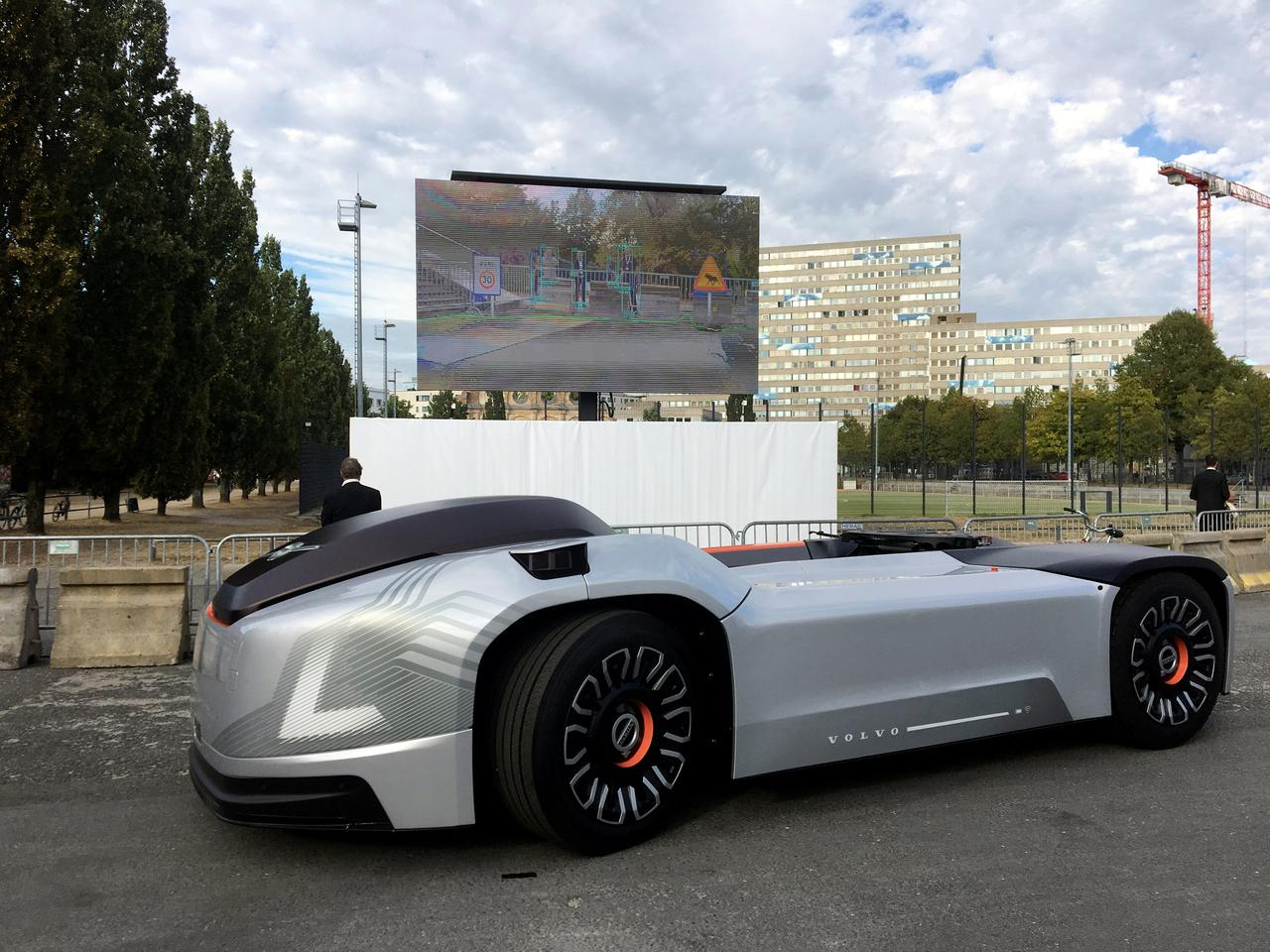volvo shows off self driving electric truck with no cab reuters