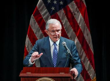 U.S. Attorney General Jeff Sessions speaks at Valor Survive and Thrive...