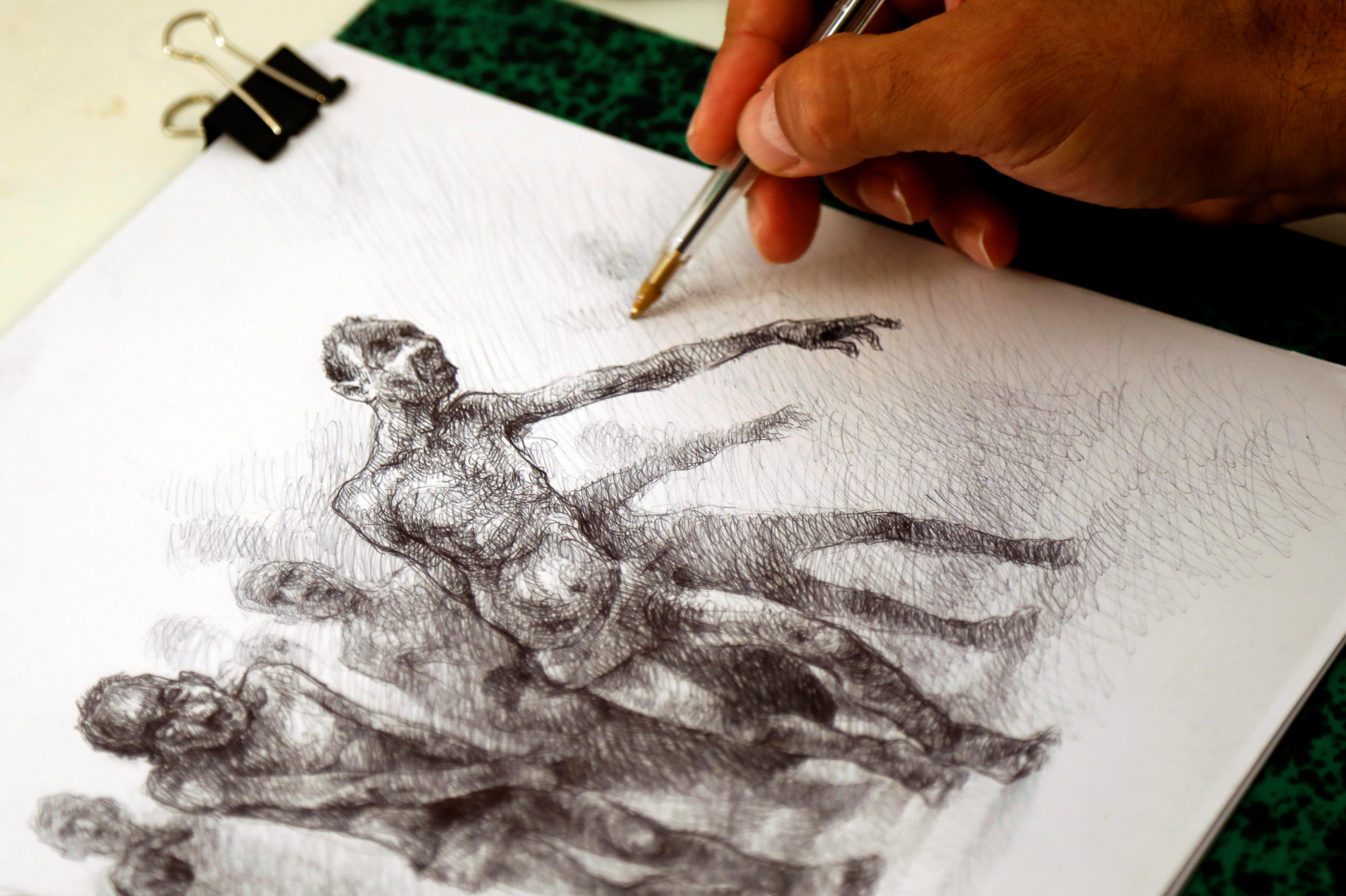 Exiled Syrian Artist Draws Torture To Continue The